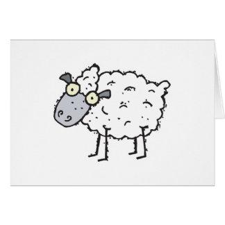 cute cartoon sheep greeting cards