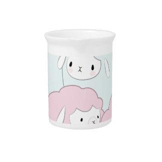 Cute Cartoon Sheep Pattern Beverage Pitcher