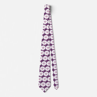 Cute Cartoon Sheep Purple Tie