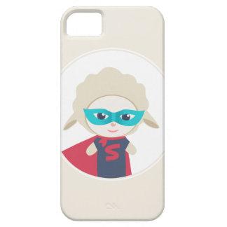Cute cartoon sheep Super Hero iPhone SE/5/5s Case