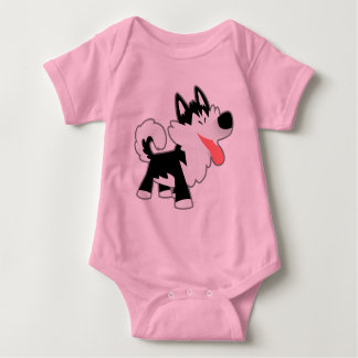 Cute Cartoon Siberian Husky Baby Clothing Baby Bodysuit