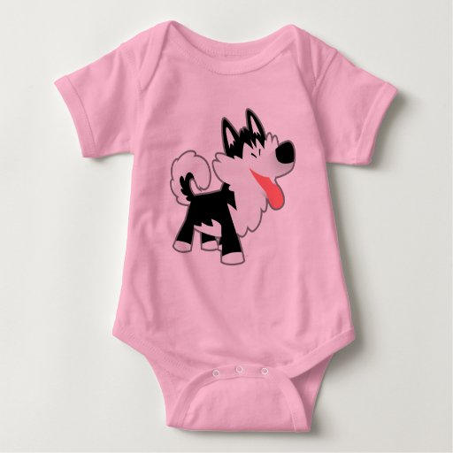 Cute Cartoon Siberian Husky Baby Clothing Shirts | Zazzle Cute Siberian Tiger Shirt