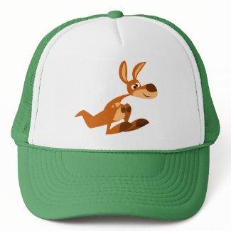 Cute Cartoon Silly Kangaroo Hat hat