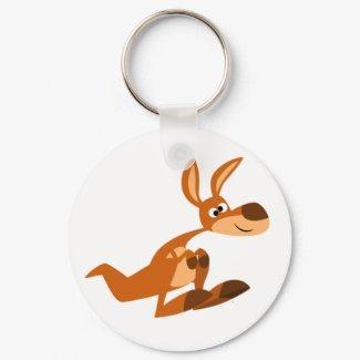 Cute Cartoon Silly Kangaroo Keychain keychain