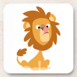 Cute Cartoon Silly Lion Set of Coasters