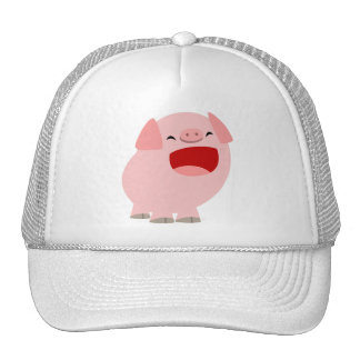 Cute Cartoon Singing Pig Hat