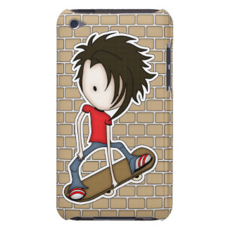 Cute Cartoon Skateboarder Teenage Boy iPod Touch Cover
