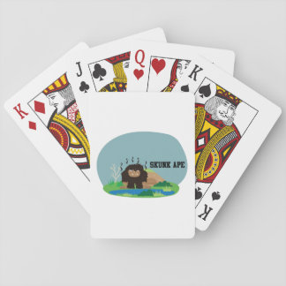Cute Cartoon Skunk Ape Deck Of Cards