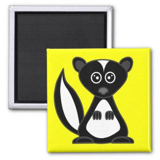 Cute Cartoon Skunk Yellow Magnet