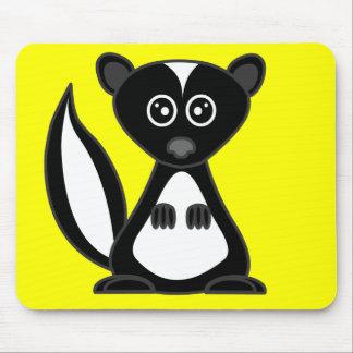 Cute Cartoon Skunk Yellow Mousepad