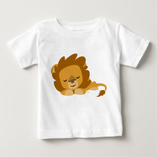 Cute Cartoon Sleeping Lion Baby T-Shirt