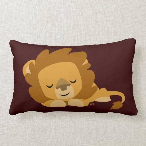 Cute Pillow Images : Cute Cartoon Sleeping Lion Pillow Zazzle