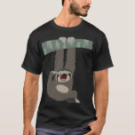 Cute Cartoon Sloth Dangling From a Branch T-Shirt