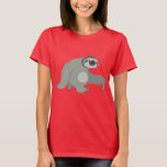 Cute Cartoon Sloth in a Hurry Women T-Shirt
