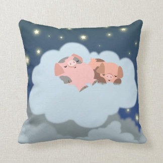 Cute Cartoon Slumbering Piglets Pillow