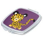 Cute Cartoon Smiling Leopard Compact Mirror