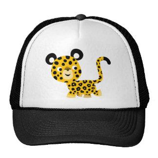 Cute Cartoon Smiling Leopard Hat