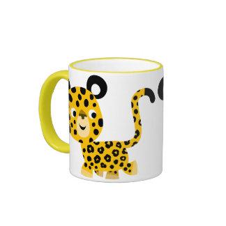 Cute Cartoon Smiling Leopard Mug