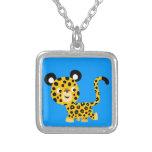 Cute Cartoon Smiling Leopard Necklace