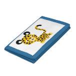 Cute Cartoon Smiling Leopard Wallet