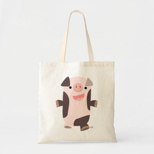 Cute Cartoon Smiling Pig Bag
