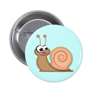 Cute Cartoon Snail 2 Inch Round Button