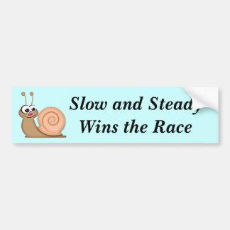 Cute Cartoon Snail Bumper Stickers