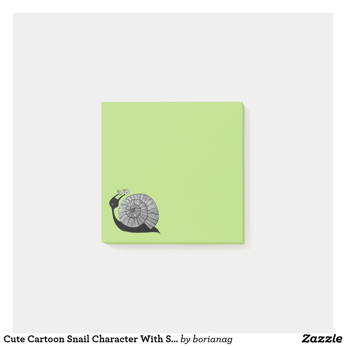 Cute Cartoon Snail Character With Spiral Eyes Post-it Notes