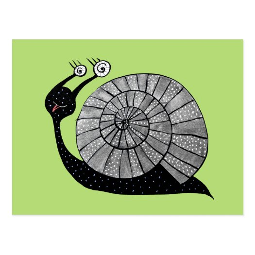 Cute Cartoon Snail Character With Spiral Eyes