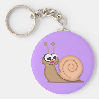 Cute Cartoon Snail Keychain
