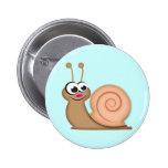 Cute Cartoon Snail Pinback Button