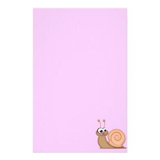 Cute Cartoon Snail Stationery Paper