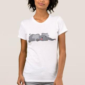 Cute Cartoon Sneaky Elephant Women T-Shirt