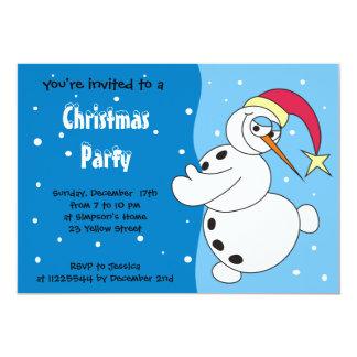 Cute Cartoon Snowman Invitations