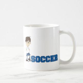 Cute Cartoon Soccer Football Boy Coffee Mug