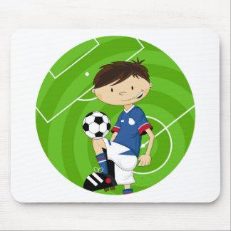 Cute Cartoon Soccer Football Boy Mouse Pad