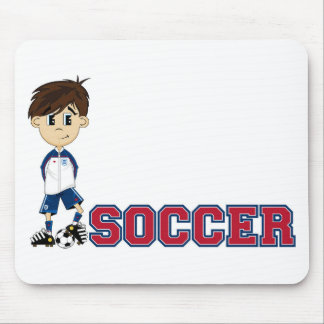 Cute Cartoon Soccer Football Boy Mouse Pads