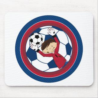 Cute Cartoon Soccer Football Boy Mousepad
