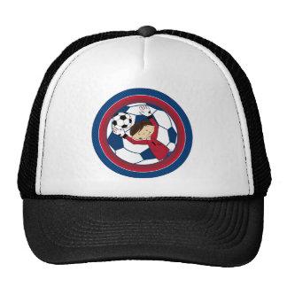 Cute Cartoon Soccer Football Boy Trucker Hat