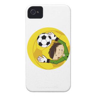 Cute Cartoon Soccer Football Goalkeeper Case-Mate iPhone 4 Cases