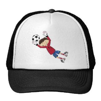 Cute Cartoon Soccer Football Goalkeeper Trucker Hat