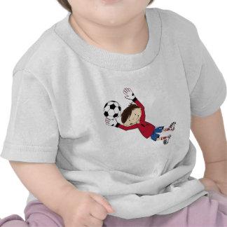 Cute Cartoon Soccer Football Goalkeeper Tshirts