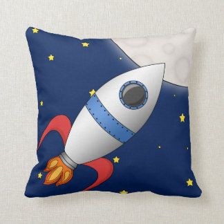 Cute Cartoon Space Rocket Ship Pillows
