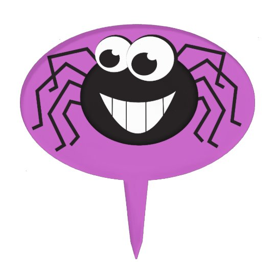 Cute Cartoon Spider Cake Topper