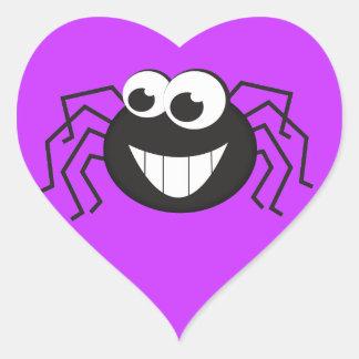 Cute Cartoon Spider Heart Stickers