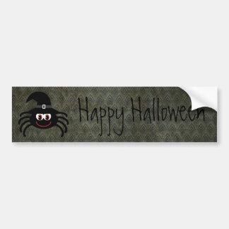 Cute Cartoon Spider Vintage Grunge Happy Halloween Car Bumper Sticker