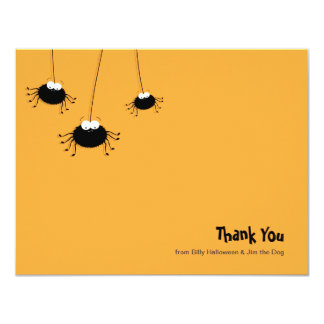 Cute Cartoon Spiders Flat Thank You Note 4.25x5.5 Paper Invitation Card