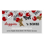 Cute Cartoon Spotted Doggies & Bones Pet Shop Double-Sided Standard Business Cards (Pack Of 100)