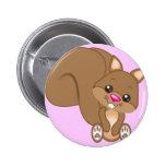 Cute Cartoon Squirrel 2 Inch Round Button