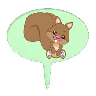 Cute Cartoon Squirrel Cake Topper